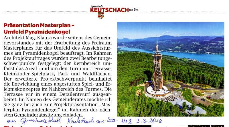 Keutschach Präsentation Masterplan Pyrmidenkogel