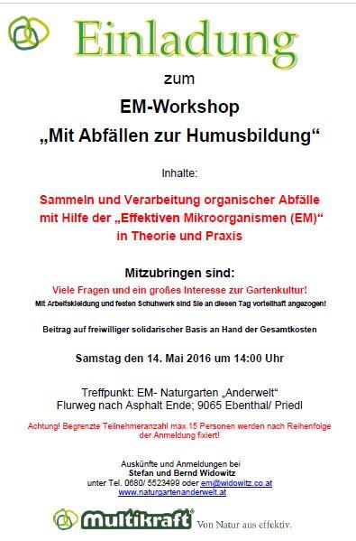EM- Vortrag in Ebenthal