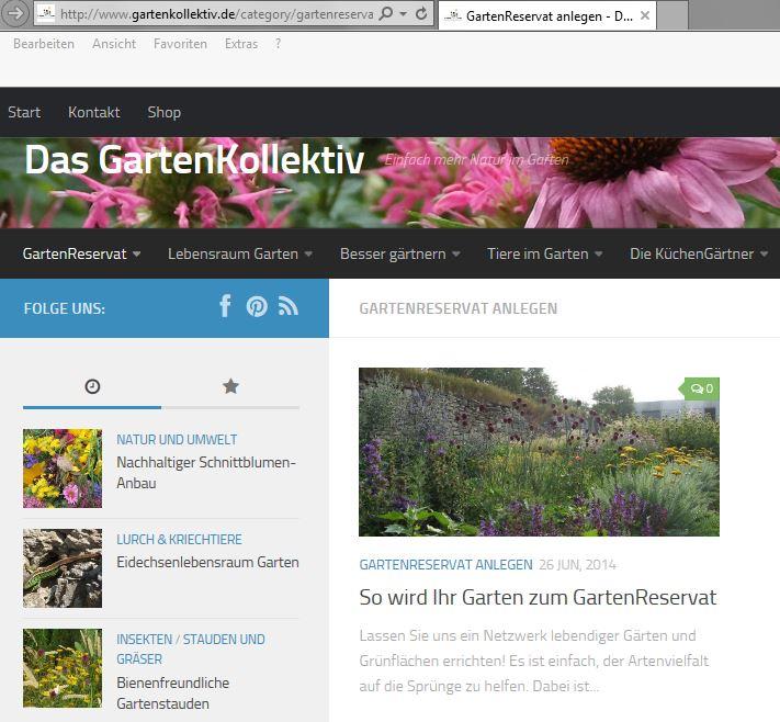 Gartenreservat anlegen